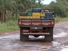 Estradas vicinais da região estão esburacadas e sem manutenção
