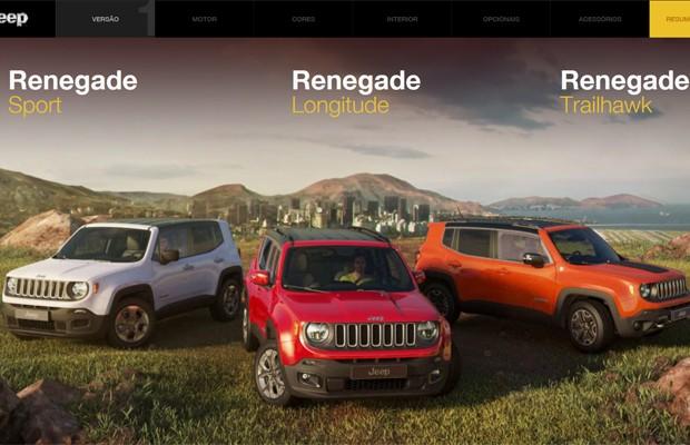 Configurador do Jeep Renegade (Foto: Reprodução)