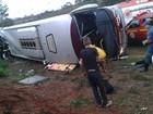 Passa de 20 o número de feridos em acidente de ônibus na BR-265