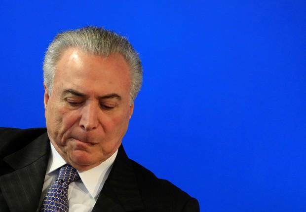 O presidente Michel Temer durante cerimônia em São Paulo (Foto: Leonardo Benassatto/Reuters)