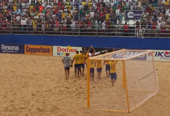 Seleção do Brasil foi representada por vários craques (Foto: André Rodrigues)