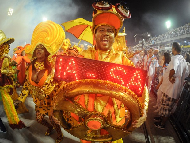 A União da Ilha do Governador é a segunda a desfilar pelo Grupo Especial no domingo (Foto: G1/Alexandre Durão)