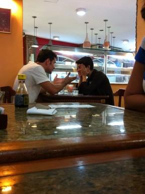 Sophie Charlotte almoçou com Daniel Oliveira (Foto: Ego)