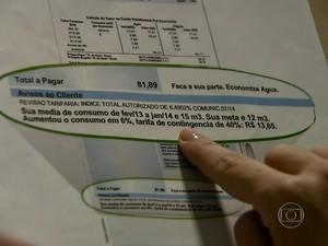 Sabesp começa emitir contas de água com multa nesta segunda-feira (Foto: Reprodução)