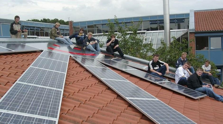 Casa com teto solar da cidade de Saerbeck, Alemanha (Foto: Divulgação)