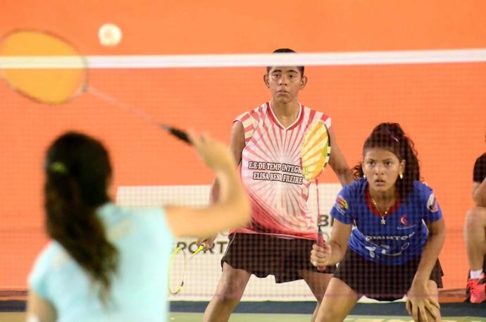 Amazonas Jogos Escolares da Juventude badminton (Foto: Mauro Neto/Sejel)
