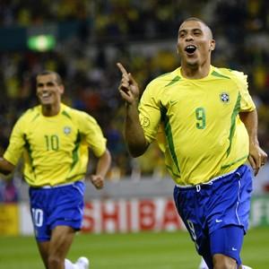 Ronaldo Rivaldo Brasil 2002 (Foto: Getty Images)
