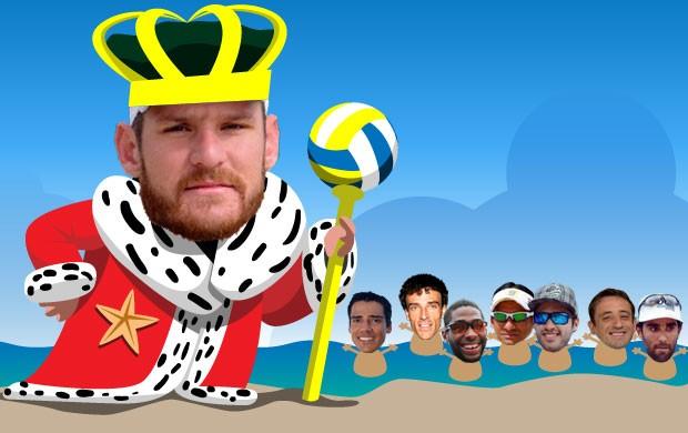 ilustração CARROSSEL rei vôlei de praia (Foto: arte esporte / cláudio roberto)