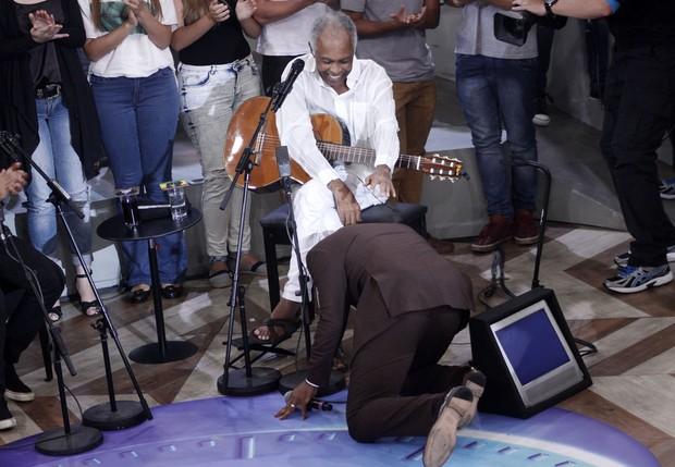 Alexandre Pires e Gilberto Gil (Foto: Celso Tavares / EGO)