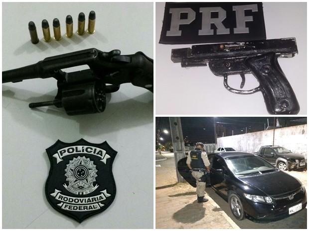 Polícia Rodoviária prende 4 pessoas e confisca 2 armas na Grande Natal (Foto: Divulgação/PRF-RN)