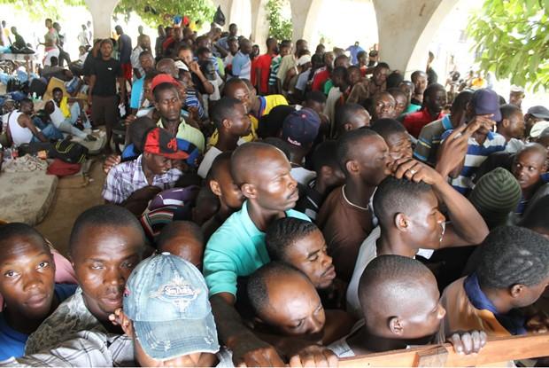 Clube em Brasileia concentra abrigo de imigrantes, na maioria haitianos, que chegam diariamente ao Brasil (Foto:  Karen Araújo/Assessoria Jorge Viana)