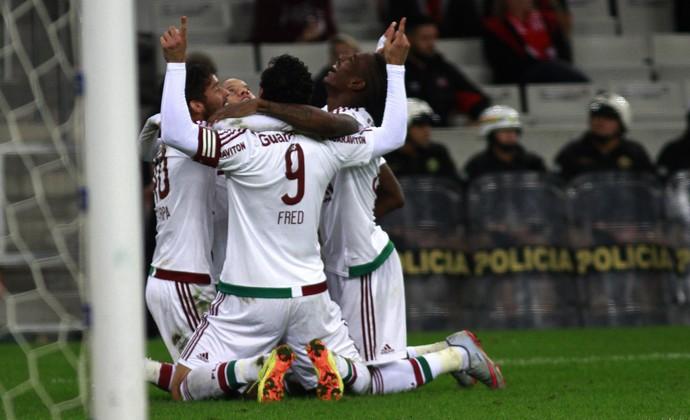 Comemoração Flu Atlético-PR x Fluminense (Foto: Nelson Perez / Fluminense FC)