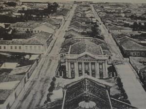 Vista aérea de Campinas em 1890 (Foto: Reprodução/ Arquivo Unicamp)
