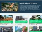 Animação de Tarso 'pulando' obras aparece em site do governo do RS