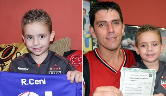 Emerson e o filho Rogério Ceni (Foto: arte/globoesporte.com)