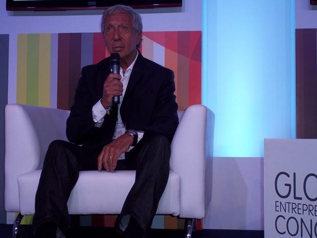 Abílio Diniz no Congresso Global de Empreendedorismo (Foto: Lilian Quaino/G1)