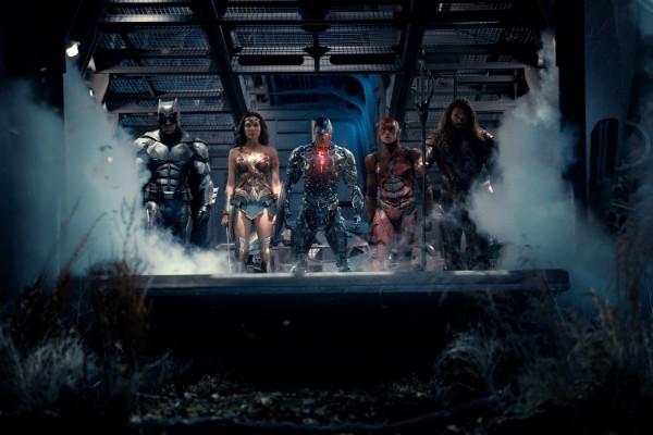 Os membros da Liga da Justiça: Batman, Mulher Maravilha, Ciborgue, Flash e Aquaman (Foto: Divulgação)