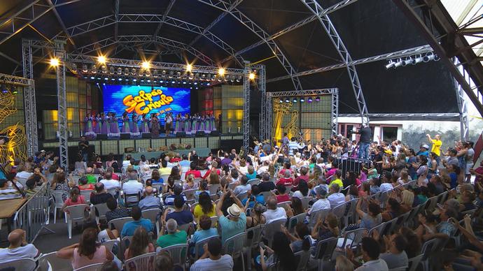 Galpão Crioulo Festa da Uva Caxias do Sul CTG Campo dos Bugres (Foto: Reprodução/RBS TV)