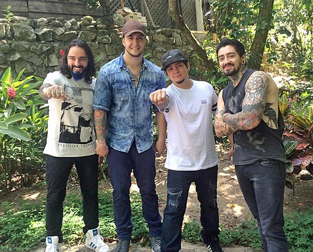 Da esquerda para direita: Diego Lopes, Bruno Boncini, Thor Moraes e Adriano Daga formam a Malta (Foto: Daniela do Valle/Gshow)