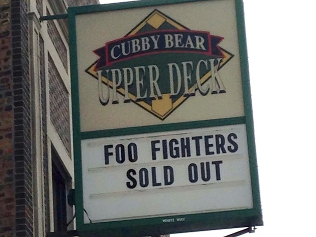 Foo Fighters em Chicago: Cubby Bear (Foto: Louise Palma)