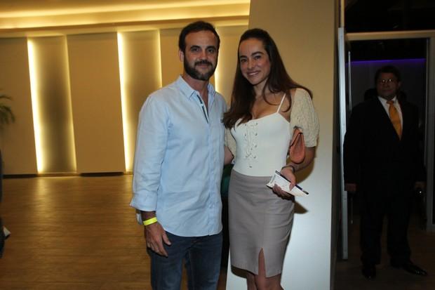 Cassia Linhares e o marido, Renato Bussiere (Foto: Marcello Sá Barretto/AgNews)