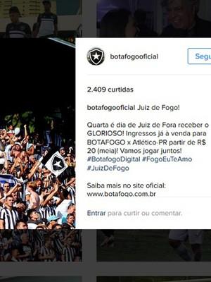 Campanha Botafogo Juiz de Fora (Foto: Reprodução/Instagram)