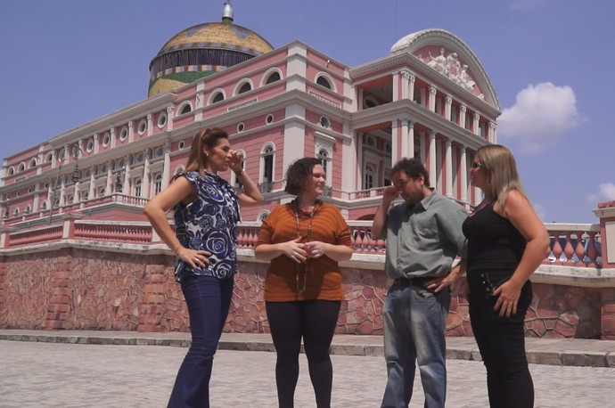 Equipe fala sobre produção de websérie  (Foto: Rede Amazônica)