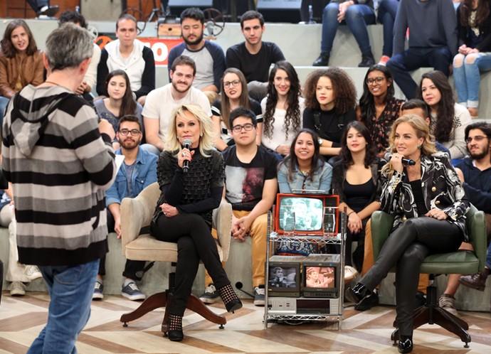 Serginho Groisman entrevista Ana Maria Braga e Angélica  (Foto: Carol Caminha/Gshow)
