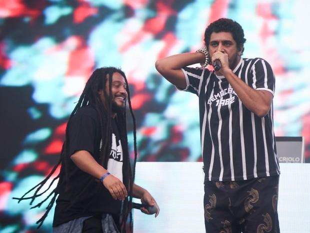 Show do rapper Criolo no Palco Júlio Prestes da Virada Cultural de São Paulo (Foto: Flavio Moraes/G1)