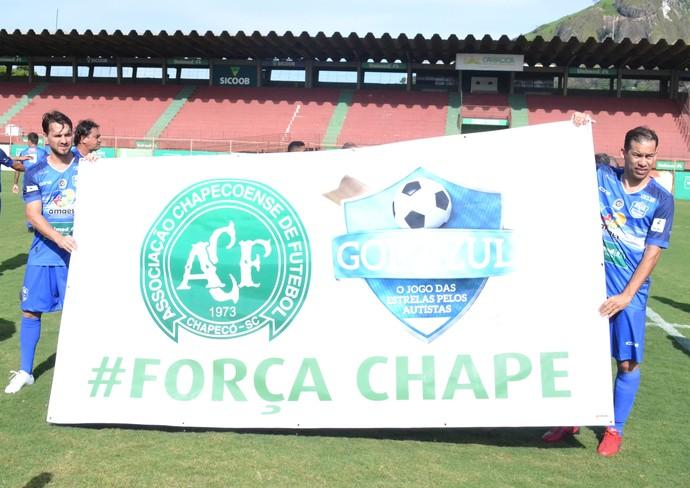 Homenagem à Chapeconense (Foto: Wagner Chaló/GloboEsporte.com)