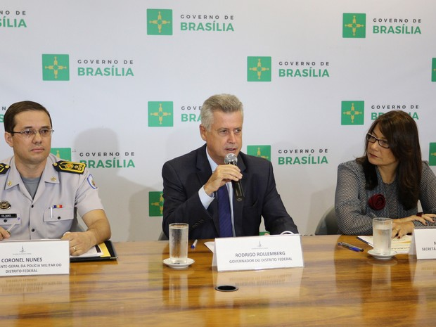 Govenador Rodrigo Rollemberg e equipe de Segurança Pública anunciam balanço de 2015 (Foto: André Borges/Agência Brasília)