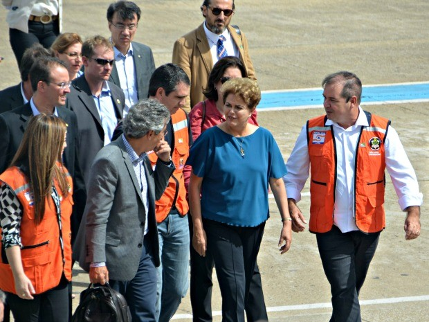 Presidente Dilma no Acre (Foto: Janine Brasil/G1)