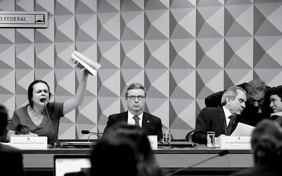 A advogada Janaína Paschoal na comissão do impeachment (Foto: Sérgio Lima/ÉPOCA)