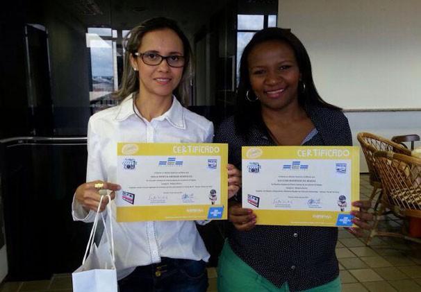 Repórteres do G1 Piauí, Patrícia Andrade e Gilcilene Araújo (Foto: Katylenin França)