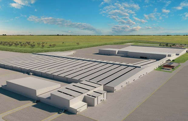 Projeção de como será a futura fábrica da Mercedes com a Nissan no México (Foto: Divulgação)