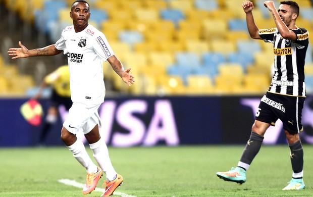 Robinho comemora gol do Santos contra o Botafogo (Foto: Wilton Junior / Agência estado)