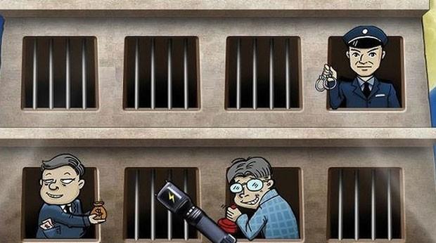 Jogador precisa impedir corrupto de escapar de cadeia (Foto: Reprodução)
