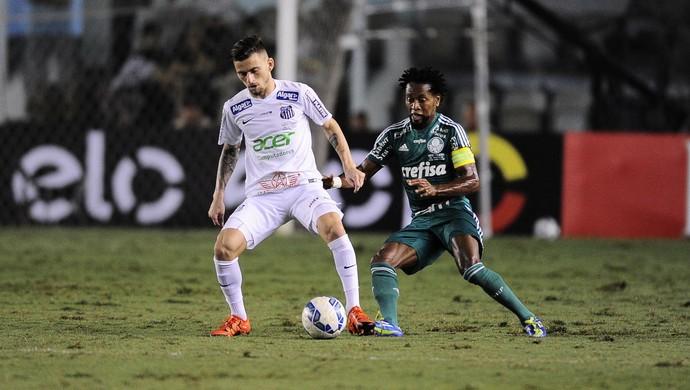 Santos x Palmeiras, Lucas Lima  Zé Roberto (Foto: Marcos Ribolli)