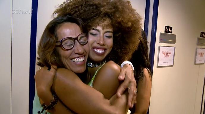 Gabriela Flor e a mãe (Foto: TV Globo)