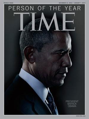 Obama na capa da revista 'Time', que o elegeu a personalidade do ano de 2012 (Foto: Reprodução)