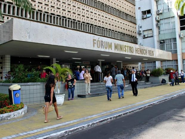 Quinto suspeito do caso, Edney Costa Gomes, foi interrogado nesta quinta (Foto: Sérgio Rodrigues/ G1 AM)