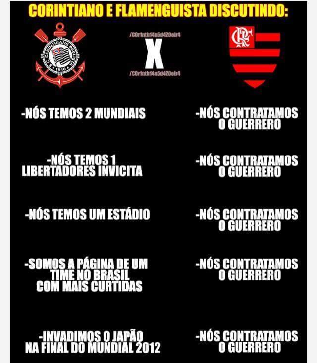 Guerrero e Flamengo zoações