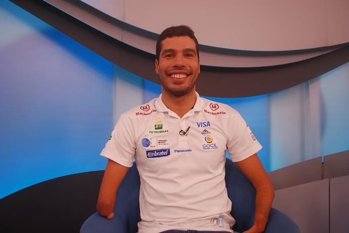 Daniel Dias no Bem, Amigos (Foto: Marcos Guerra)
