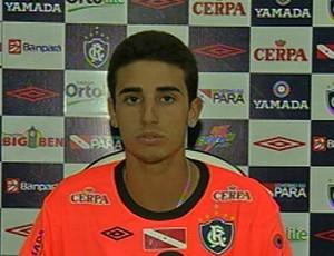 Thiago Galhardo se apresentou ao Remo (Foto: Reprodução/ TV Liberal)