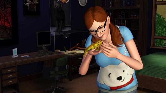 Os Sims também pode comprar ou capturar animais menores, como lagartos, cobras e pássaros (Foto: Reprodução/The Sims Wikia)