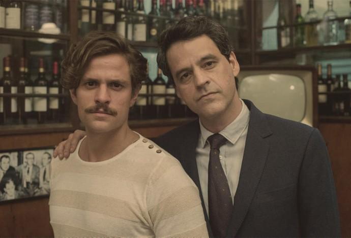 Em 'Nada Será Como Antes', Rodolfo (Alejandro Claveaux) e Aristides (Bruno Garcia) já viveram um romance (Foto: Globo/Estevam Avellar)