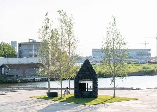 Casa de 8 m² em Amsterdã foi feita com impressão 3D (Foto: Divulgação)