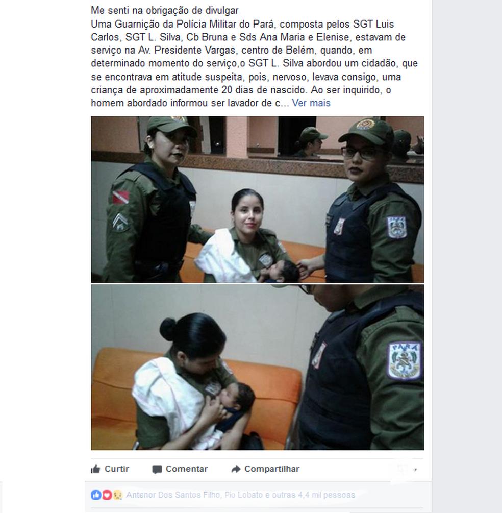 Episódio inusitado foi registrado e viralizou nas redes sociais (Foto: Reprodução/Facebook)