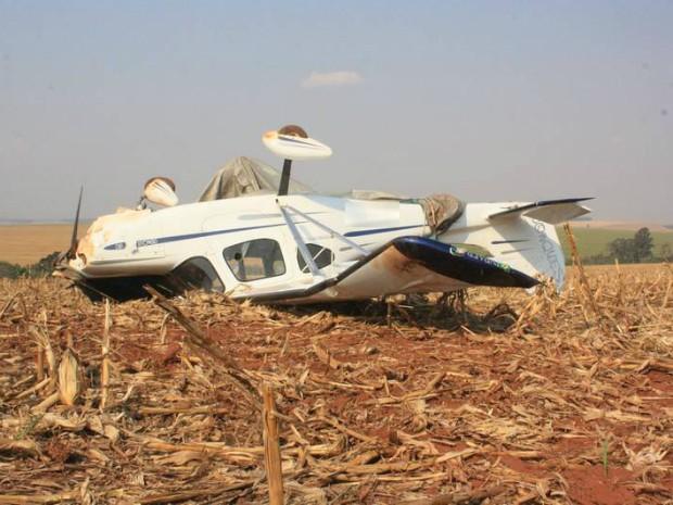 Avião caiu em uma fazenda na área rural de Farol (Foto: Arquivo pessoal/ Marcos de Souza)