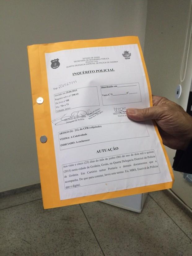 Inquérito (Foto: EGO)